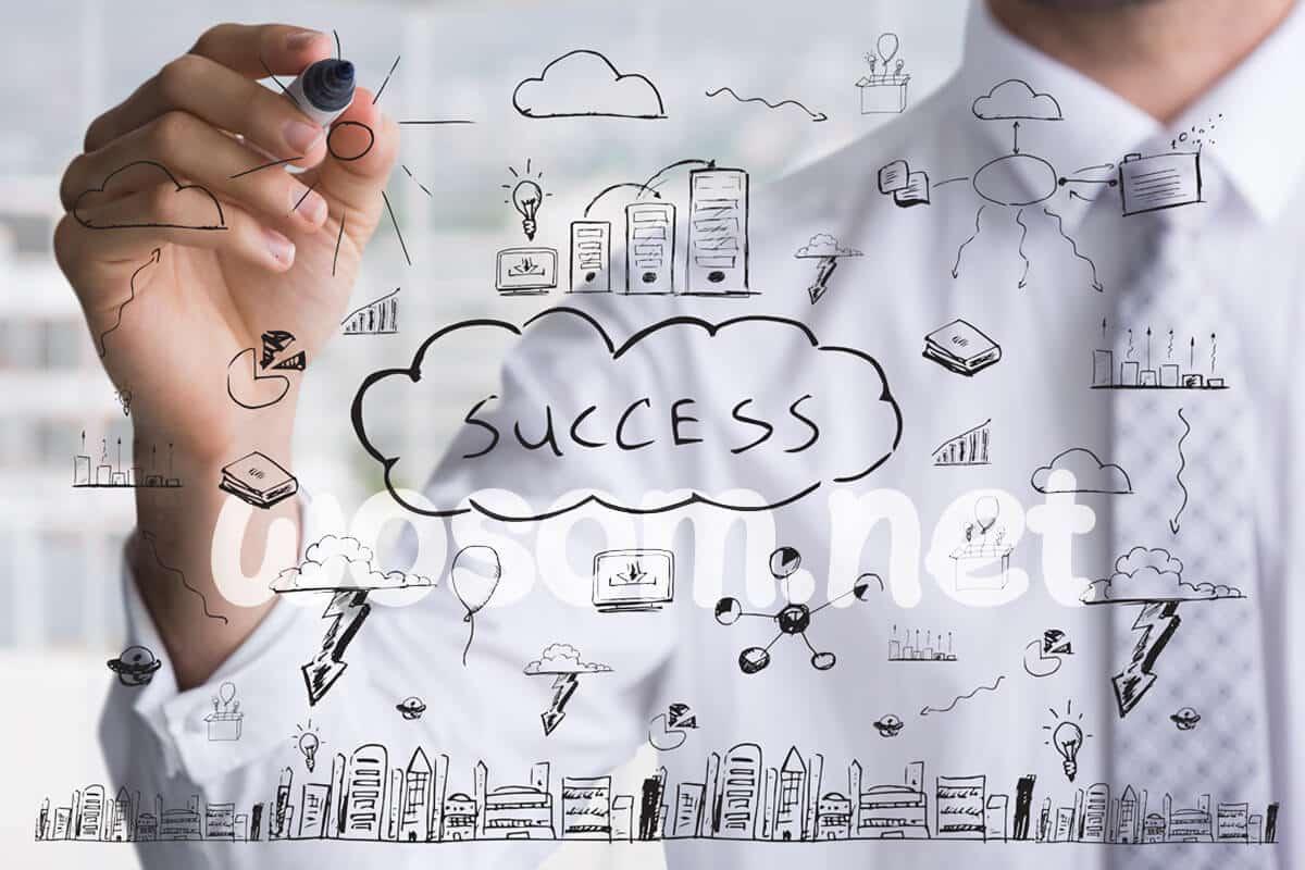 مفهوم النجاح السعادة الشهرة